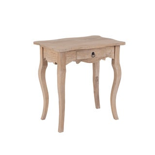 Decorative Lyons Casual Tan Square Accent Table