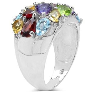 Olivia Leone 4.76 Carat Genuine Multi .925 Sterling Silver Ring