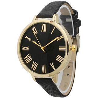 Olivia Pratt Women's Skinny Classic Leather Band Watch (Option: Black)