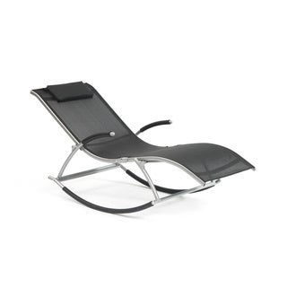 Monte Carlo Rocking Lounger Black