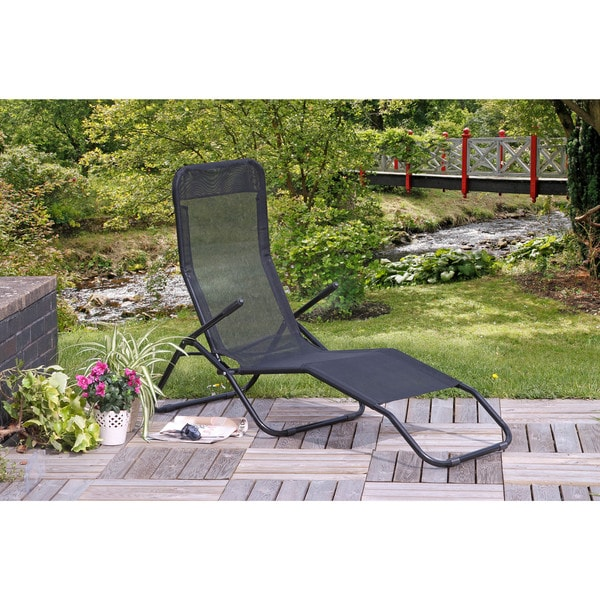 Shop Siesta Reclining Lounger Black Free Shipping Today