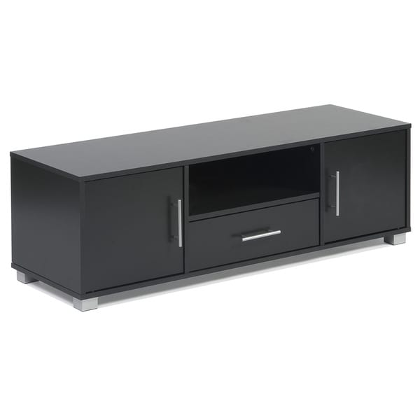 Great Sorento Black 2 Door 1 Drawer Entertainment Cabinet