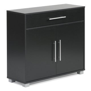 Sorento 2-door Black Sideboard with Drawer