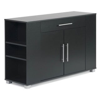 Sorento 2-door Sideboard with Drawer and End Shelf - Thumbnail 0
