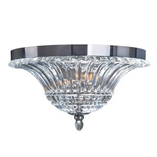 Elegant Designs 2-Light Glass Ceiling Light with Glacier Petal Flushmount