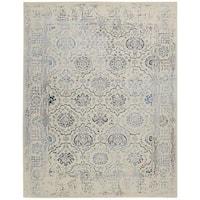Nourison Symphony Ivory/Blue Rug - 8' x 11'