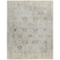 Nourison Symphony Ivory/Blue Rug - 7'6 x 9'6