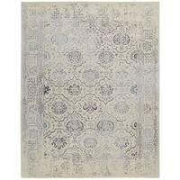 Nourison Symphony Ivory/Blue Rug (9'6 x 13') - 9'6 x 13'