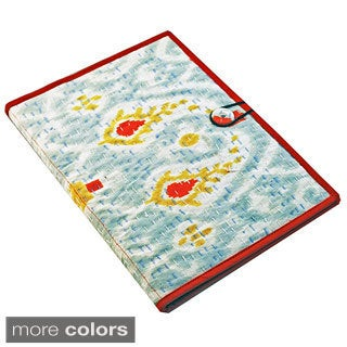 Handmade Ikat Print Kantha Folder (India)