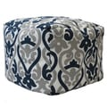 Premiere Home Indoor/Outdoor Alex Oxford Grey 17 inch Square Pouf Footstool