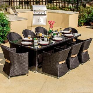 Lakeview Outdoor Designs Providence 8-person Resin Wicker Patio Dining Set