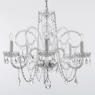 Venetian Style All Crystal 5-Light Chandelier with Austrian Crystal