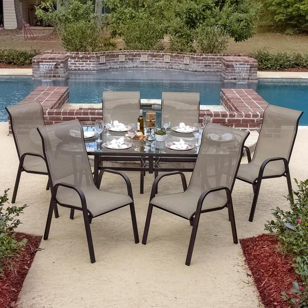 Lakeview Outdoor Designs Madison Bay 6 person Aluminum  : Lakeview Outdoor Designs Madison Bay 6 person Aluminum Sling Dining Set with Stacking Chairs and Glass Top Table 458b5f11 050e 484b 8803 f4416c453b5f600 from www.overstock.com size 600 x 600 jpeg 73kB