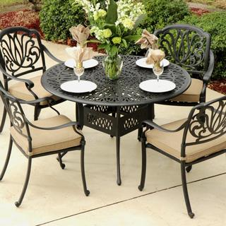 Lakeview Outdoor Designs Rosedown Cast Aluminum 4-person Patio Dining Set with Cast Aluminum Table