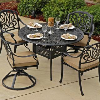 Lakeview Outdoor Designs Rosedown Cast Aluminum Patio 4-person Dining Set with Cast Aluminum Table