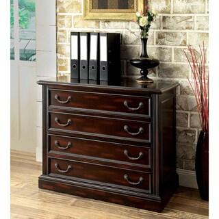 Furniture of America Grantworth Dark Cherry 2-Drawer File Cabinet