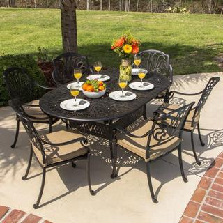 Lakeview Outdoor Designs Rosedown Cast Aluminum 6-person Patio Dining Set with Cast Aluminum Table