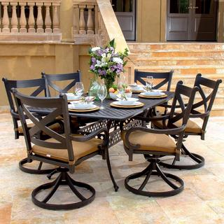Lakeview Outdoor Designs Avondale Cast Aluminum 6-person Patio Dining Set
