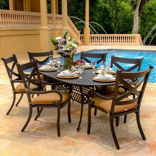 Lakeview Outdoor Designs 6-person Avondale Cast Aluminum Patio Dining Set