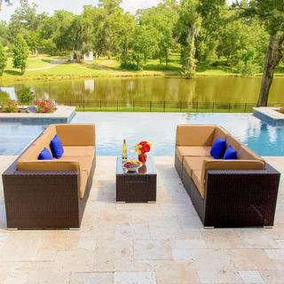 Lakeview Outdoor Designs Avery Island 6-person Resin Wicker Patio Conversation Set
