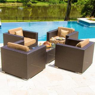 Lakeview Outdoor Designs Avery Island Resin Wicker Patio 4-person Conversation Set