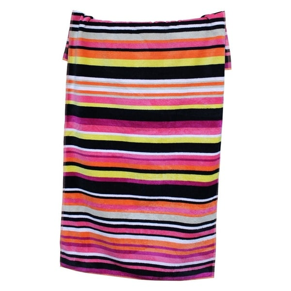 Amraupur Overseas 100-percent Cotton Yarn Dyed Oversized Sangria Beach Towels