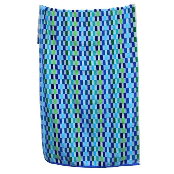 Amraupur Overseas 100-percent Cotton Yarn Dyed Oversized Mosaic Beach Towels