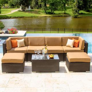 Lakeview Outdoor Designs Avery Island Resin Wicker 4-person Patio Conversation Set
