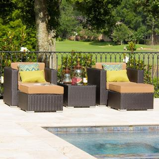 Lakeview Outdoor Designs Avery Island 2-person Resin Wicker Patio Conversation Set