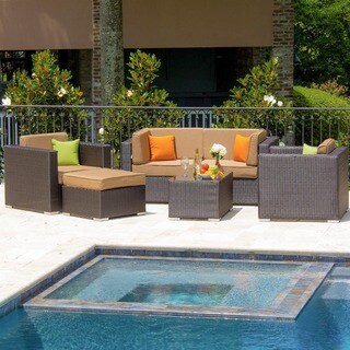 Lakeview Outdoor Designs Resin Wicker Avery Island Patio 4-person Conversation Set
