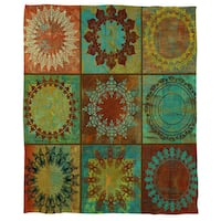 Medallion Grid Cora Fleece Throw