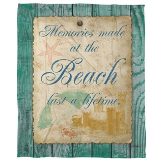Memories at the Beach Cora Feece Throw