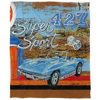 Muscle Cars IV Coral Fleece Throw