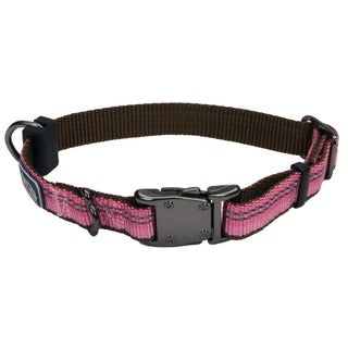 Coastal K9 Explorer Pink Reflective Adjustable Collar