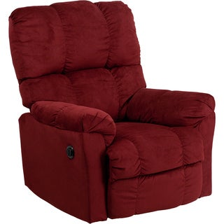 Flash Furniture Microfiber Power Recliner (Option Red)  sc 1 st  Overstock.com & Red Microfiber Recliner Chairs u0026 Rocking Recliners - Shop The ... islam-shia.org