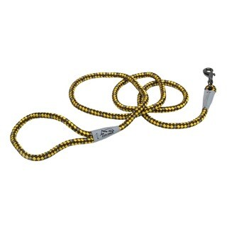 Coastal K9 Explorer Yellow Reflective Braided Rope Snap Lead