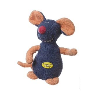 Multipet Deedle Dude Singing Plush Mouse Dog Toy Pet