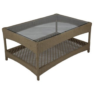 Somette Sierra Outdoor Glass Coffee Table