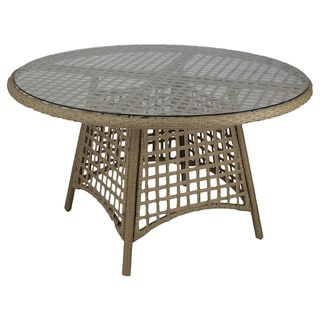 Somette Sierra Outdoor Glass Dining Table