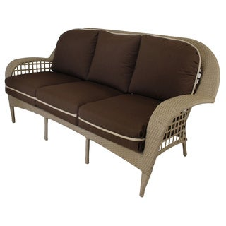 Somette Sierra Outdoor Sofa with Brown Cushion