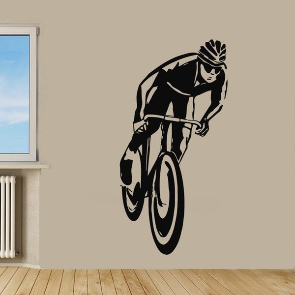 Shop Cycling Bicycle Vinyl Sticker Wall Art - Free Shipping Today ...