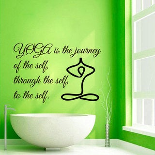 Yoga Inspirational Quote Vinyl Sticker Wall Art