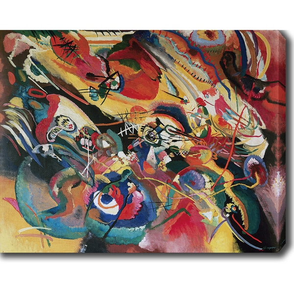 Wassily Kandinsky 'Sketch I For Composition Vii' Oil on Canvas Art ...