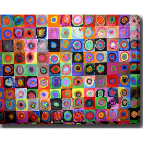 Wassily Kandinsky 'Concentric Circles' Oil on Canvas Art