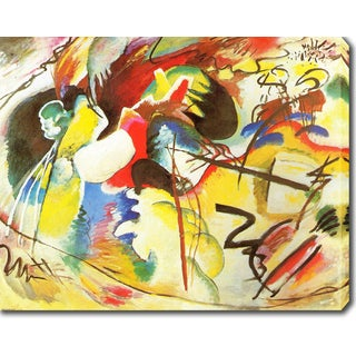 Wassily Kandinsky 'Picture with White Form' Oil on Canvas Art