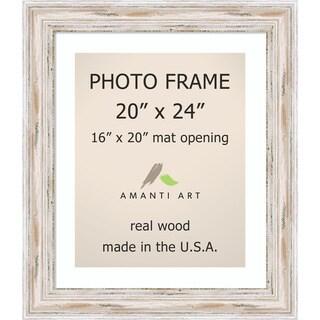 Alexandria Whitewash Photo Frame 20x24, Matted to 16x20' 25 x 29-inch