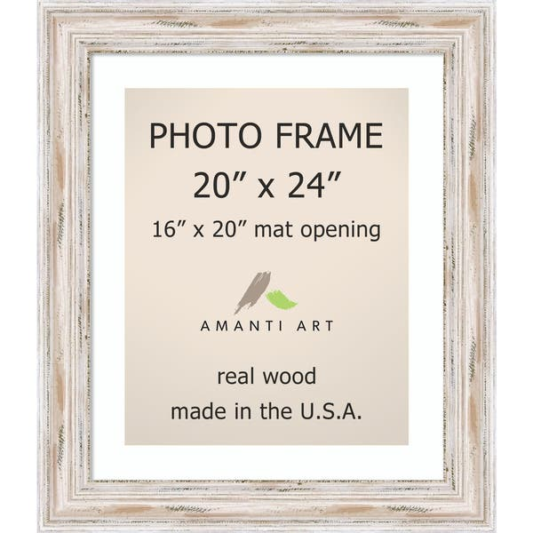 Shop Alexandria Whitewash Photo Frame 20x24 Matted To 16x20 25 X