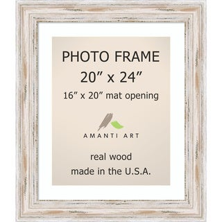 Alexandria Whitewash Photo Frame 20x24, Matted to 16x20' 25 x 29-inch