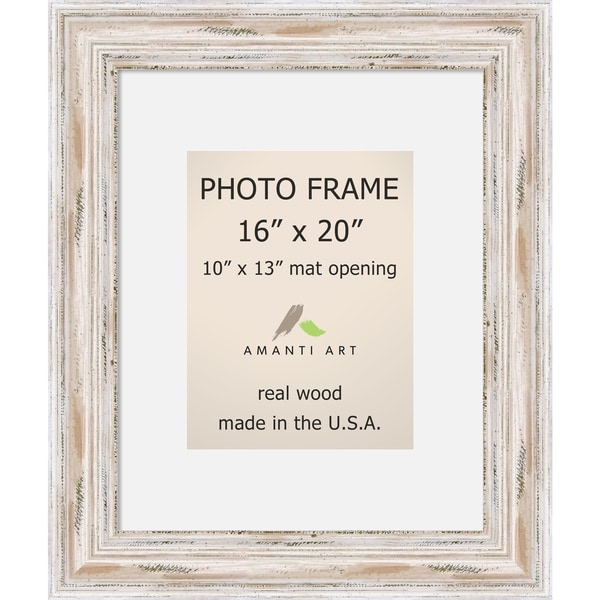 Alexandria Whitewash Photo Frame 16x20, Matted to 10x13\' 21 x 25 ...