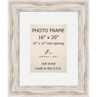 Alexandria Whitewash Photo Frame 16x20, Matted to 10x13' 21 x 25-inch